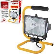 500W PORTABLE HALOGEN FLOOD LIGHT STAND ADJUSTABLE WORK SITE LAMP HAND HELD 265V