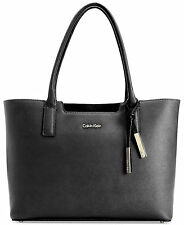 Calvin Klein Saffiano Leather Tote ‑ Black -Sealed in Bag - Unopened