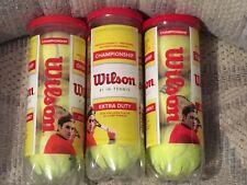 Wilson Championship - Set of 3 Plastic Canisters - Tennis Balls