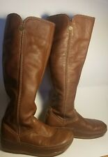 5/36 FITFLOP Tall Women Leather Boots Brown 101-081