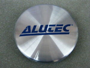 Original ALUTEC Nabenkappen N22 silber blau Alufelgen Nabendeckel
