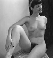 Bettie Page nude pinup 8x8 print 013