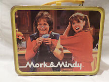 """VINTAGE """"MORK AND MINDY METAL LUNCH BOX  1"""