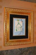 "Marc Chagall ORIGINAL "" La Maison De Mon Village "" 1960 Lithograph  Framed ~ COA"