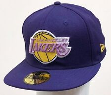 new concept 68e3c 5d963 NEW ERA 59FIFTY FITTED NBA LOS ANGELES LAKERS Purple Light Purple