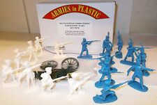 ARMIES in Plastic 5670-Guerre Napoleoniche, 8 PRUSSIANO Landwehr & 10 francese. (1/32)