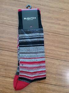 New Men's BUGATCHI CB7512 Ruby Cotton Blend Dress Socks One size.