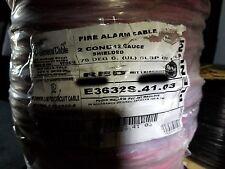 Carol E3632S 12/2C Solid Shield Plenum Fire Alarm Cable Wire FPLP/CL3P Red/100ft
