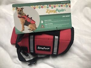 Zippy Paws Dog Life Jacket Sz XXS 6-10 High Visibility Flotation Device.