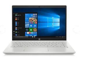 "New HP 14"" Laptop Intel i5-1035G1 8GB 256GB SSD Backlit Keyboard Webcam Silver"