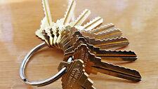 Locksmith Space & Depth Keys-Schlage SC9-SC4-10 keys total-Cut on HPC1200