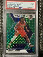 Zion Williamson 2019-20 Panini Mosaic Green Prizm NBA Debut Rookie PSA 9 #269