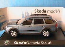 SKODA OCTAVIA 2 COMBI SCOUT 2007 SATIN GREY METAL ABREX 143AB011CE 1/43 ESTATE