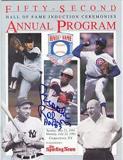 Brooks Robinson Auto 1991 Annual HOF Induction Program COA Signed