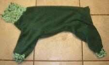 4 Leg Forest Green w Cheetah Dog Pj Sweater Italian Greyhound Chinese Crested