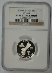 2009 S Silver Proof Quarter Guam Coin NGC PF70 PF 70 Ultra Cameo