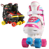 Roller Skates for Kids Adjustable Size PVC Wheel Triple Lock Mesh Breathable