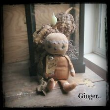 New ListingPrimitive Gingerbread Man Doll Christmas Winter Holiday Decoration Ginger.