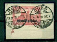 Memel, auf Germania  Nr. 9 gestempelt auf Briefstück, Ecke mit Nr. 3
