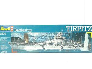 Revell 05042 Battleship Tirpitz Warship 1:570 Plastic Scale Model Kit 42.2cm New