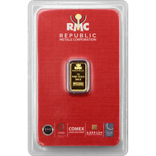 Republic Metals Corporation 1 Gram Gold Bar