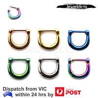 Hinged Clicker Ear Septum Piercing Hoop Ring Lip Helix Tragus Earring Nose Ring