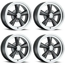 Set 4 15x8 Vision 141 Legend 5 5x4.75 0mm Gunmetal Wheels Chevy Buick 5 Lug