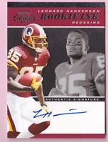 LEONARD HANKERSON RC 2011 CONTENDERS ROOKIE INK AUTO ON CARD SIGNATURE SP /100