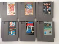 6 Nintendo Games NES Game Lot Robot Cop Jaws Rad Racer Mario Bros/Duck Hunt