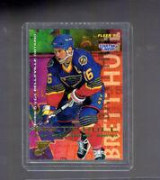 Starting Lineup Brett Hull 1995 Hockey NHL St. Louis Blues Fleer Card #187