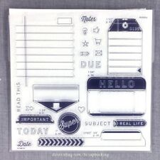 From the Notebook - S1607 CTMH Close To My Heart Acrylic Stamps set Tags Journal