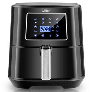 Bear  Friggitrice ad Aria Calda 5,5L Senza Olio LED Display Air Fryer