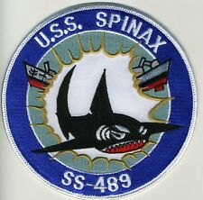 USS Spinax SS 489 - Shark in Center with broken ship - Patch - Cat No. C5447