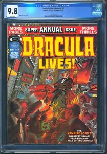 DRACULA LIVES ANNUAL #1 - CGC 9.8 WHITE - NM/MT - GREY MORROW COVER 1977