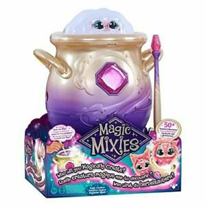 """Magic Mixies Magical Misting Cauldron w/ Interactive 8"""" Pink Plush Toy - IN HAND"""