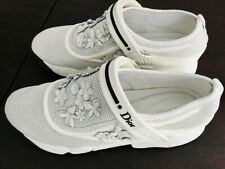 Christian Dior White Fusion 3D Flower Sneakers - NIB.  Size 40
