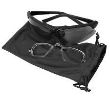 Black Tactical Prescription Insert UV Eyeglasses Sunglasses Goggles Kit & Case