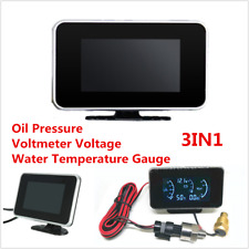 DC9-36V LCD Digital Car SUV Oil Pressure/Voltmeter Gauge/Water Temperature Meter