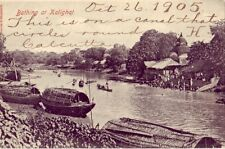 pre-1907 BATHING AT KALGHAT dated Oct 26. 1905