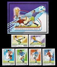 BENIN. 1998 World Cup Soccer Championship. 1997. Scott 966-972. MNH (BI#12)