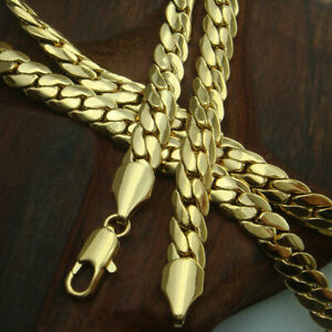 18k gold vacuum plating mens solid Snake chain Necklace link jewellery N230
