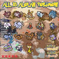 Pokemon Lets Go All *18* Shiny Alolan | 6 IV | Vulpix Raichu Muk Exeggutor etc.