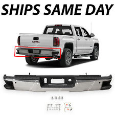 NEW Chrome - Rear Bumper for 2014-2017 Chevy Silverado & GMC Sierra 1500 W/ Park