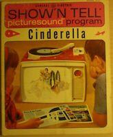 General Electric Show Tell picturesound program 45 record Walt Disney Cinderella