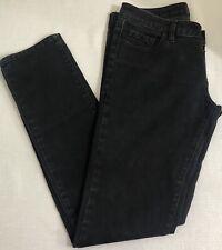 Urban Behavior Juniors Skinny Leg Low Rise Solid Black Denim Jeans Size 9/30