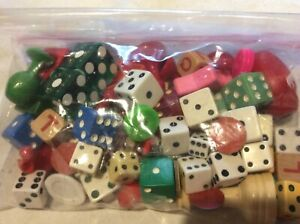 Lot of Vintage Dice and Game Pieces