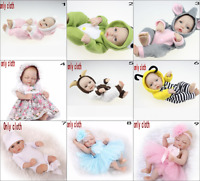 "11"" Newborn Reborn Dolls Baby Girl Boy Clothes Handmade Toy Dress Up Real Gift"