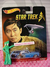 2016 STAR TREK 50 Hot Wheels '70 CHEVELLE DELIVERY wagon☆Sulu;Blue☆Pop☆RealRider