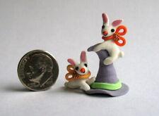 Handmade Miniature  HALLOWEEN WITCH HAT  BUNNY FRIENDS FUN - OOAK C. Rohal