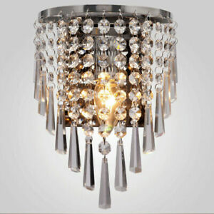 Modern K9 Crystal Wall Lights Sconce Bedside light Wall lamp Fixtures Decor